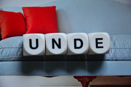 word unde on an abstract background