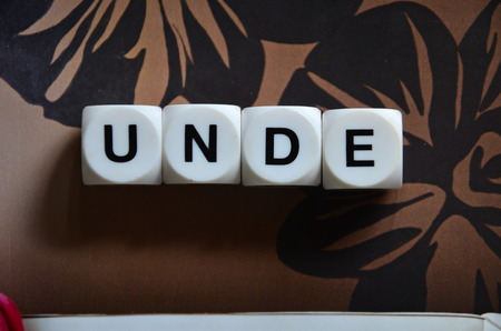 word unde on an abstract background Standard-Bild - 103757891