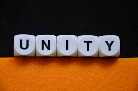 word unity on an abstract colorful background