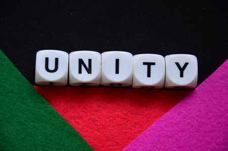 word unity on an abstract background