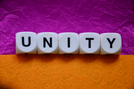 word unity on an abstract colored background