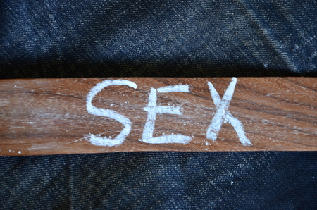 word sex on an abstract background