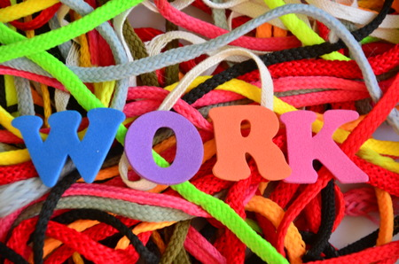 word work on an abstract background