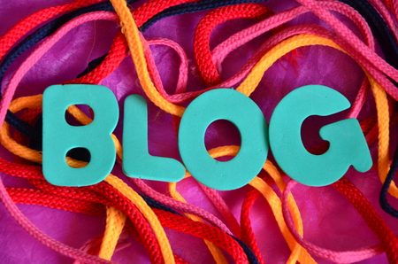 word blog on an abstract background Stock Photo