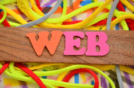 word web on an abstract background