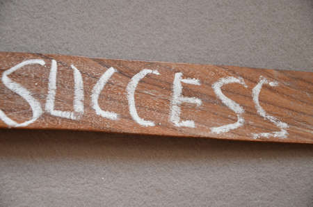 word sucess on an abstract background