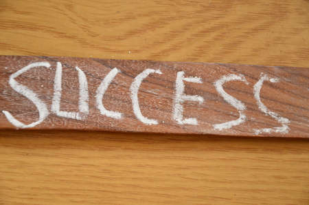 word success on an abstract background Stock Photo