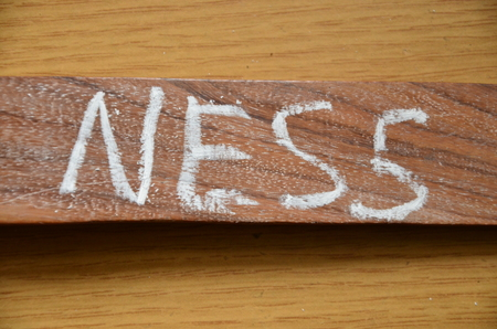 word ness on an abstract background Stock Photo