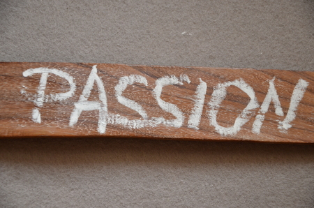 word passion on an abstract background