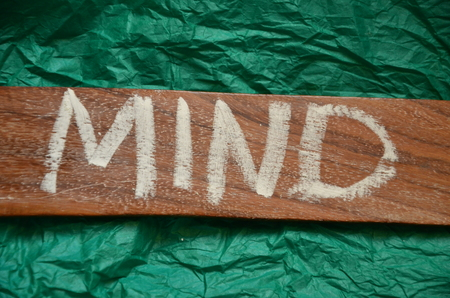 word mind on an abstract background Stok Fotoğraf