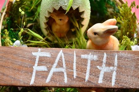 word faith on an abstract background