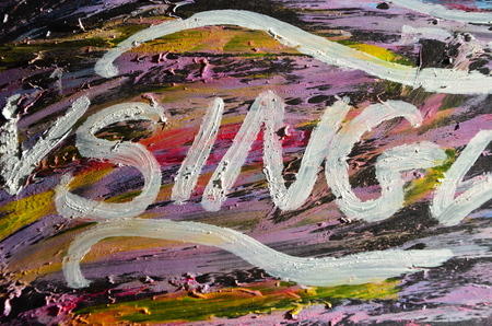 word sing on an abstract background