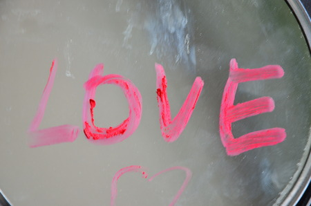 word love on an abstract background