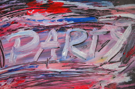 Word party on an abstract background