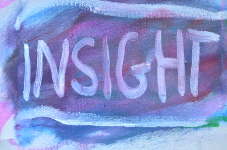 word insght on an abstract background