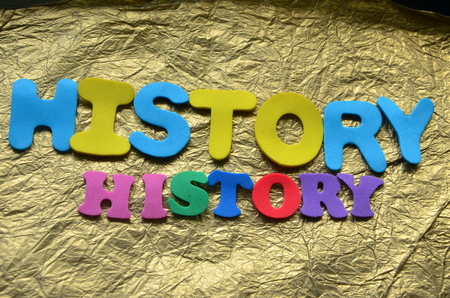 Word history on an abstract background