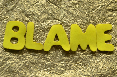 Word blame on an abstract background Stok Fotoğraf