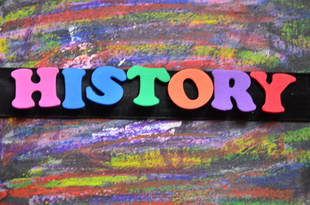 word history on an abstract background 写真素材 - 105305034