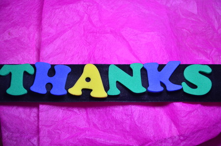 word thanks on an abstract background