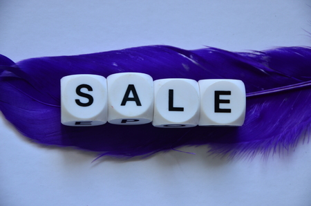 word sale on an abstract background