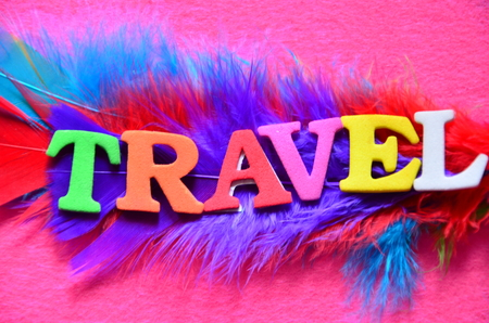 word travel on an abstract background