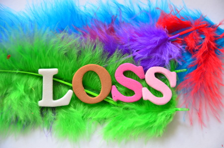 word loss on an abstract background Stock Photo