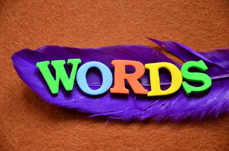 word words on an abstract background