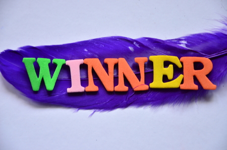 word winnner on an abstract background Stock Photo - 105973960