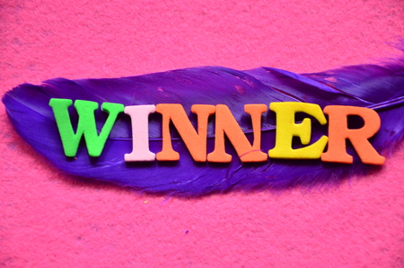 word winnner on an abstract background