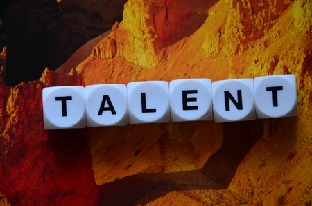 WORD TALENT ON AN ABSTRACT BACKGROUND