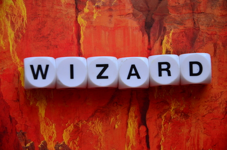 word wizard on an abstract background
