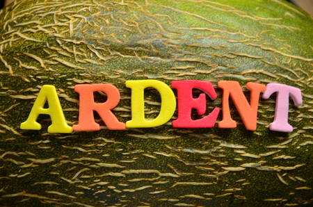 Word ardent on an abstract background
