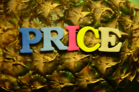 word price on an abstract background Фото со стока