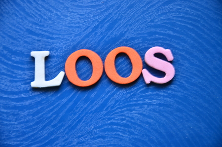 word loos on an abstract background Banco de Imagens
