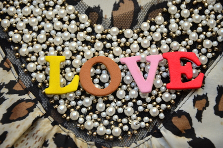 word love on an abstract background 写真素材