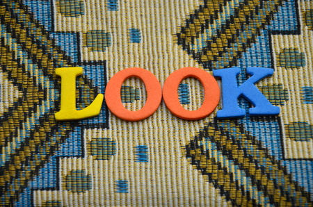 word look on an abstrct background