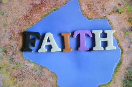 word faith on an abstract bbackground