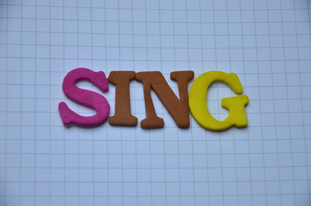 Word sing on an abstract background Stock Photo - 106417404