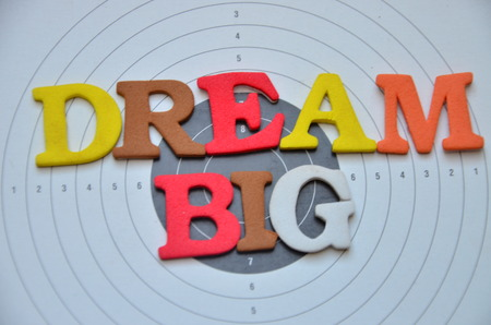 word dream big on abstract background Stock Photo