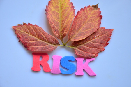 word risk on ann abstract background Stock Photo