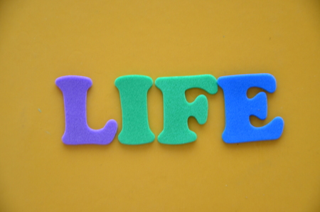 word life on an abstract background