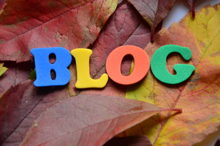 word blog on an abstract background 스톡 콘텐츠