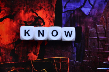 word know on an abstract background Stock Photo