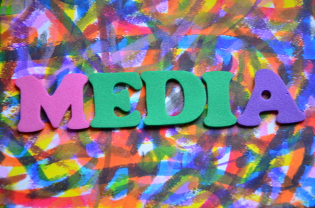 word media on an abstract background 스톡 콘텐츠