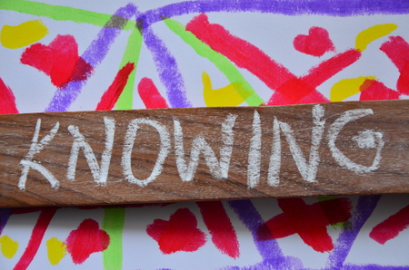 word nknowwing on an abstract background