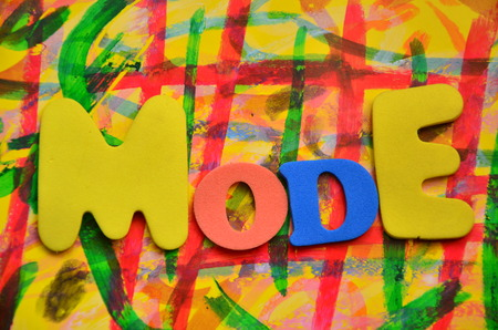 Word mode on an abstract background