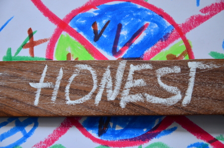 word honest on an abstract backgrot background