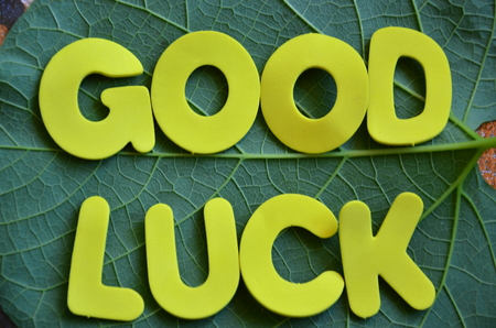 word good luck on an abstract background