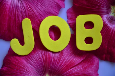 word job on an abstract background Stock Photo