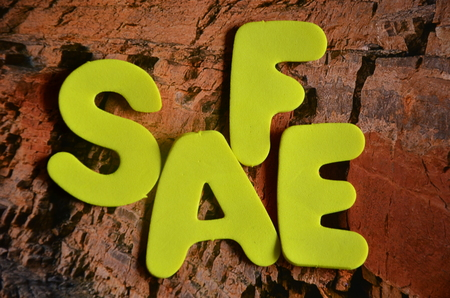 word safe on an abstract background Banco de Imagens - 109344063